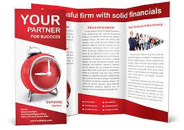 red clock brochure template u0026 design id 0000002270