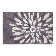 Grey Bathroom Rugs Purple Flower Power Bath Rug Bed Bath Beyond