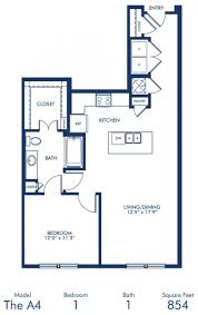 1 2 bedroom apartments in dallas tx camden victory park blueprint of a4 floor plan 1 bedroom and 1 bathroom at camden victory park apartments