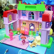 chambre jouet miniature maisons de poupées cadeau jouets villa maison heureux
