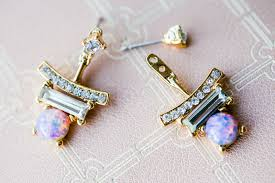 front and back earrings trends to try front back earring the chriselle factor