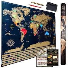 World Scratch Map by Durable Modeling The Ultimate Scratch Off World Map With Flags And