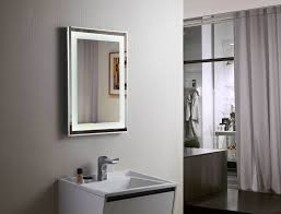 budapest lighted vanity mirror led bathroom mirror horizontal 197 bathroom modern lighted bathroom vanity mirror with brushed nickel