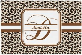 leopard fabric leopard print placemat fabric personalized baby n toddler