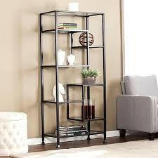 ikea etagere etagere bookcase metal glass asymmetrical bookcase matte black