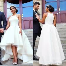 high low wedding dress discount 2017 arabic white high low wedding dresses cheap halter