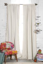 best 25 drop cloth curtains ideas on pinterest drop cloth blackout pompom curtain