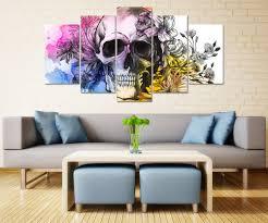 Living Room Art Paintings Online Get Cheap Skull Art Painting Aliexpress Com Alibaba Group
