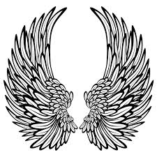 angel wings with feathers wall stickers wall decals angel