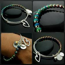silver bead bangle bracelet images Bangle bracelet kit mood beads and charms you can make this jpg