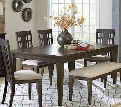 homelegance makah rectangular dining table with leaf dark brown