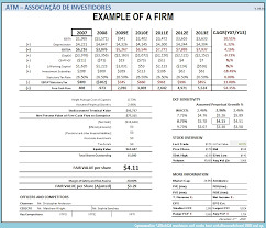 Discounted Flow Analysis Excel Template Discounted Flow