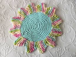 knit home decor knitted flower doily knitted knitted dishcloth knitted washcloth