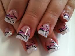 nail art pink and white nails at homeolar designspink