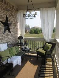 front porch with curtains this would be so cool my sunny