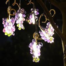 Solar Garden Tree Lights by Grape Solar Landscape Lights Fruit Vivid Garden Light Pendant