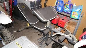 gold u0027s gym weight bench set phoenix storage unit sale