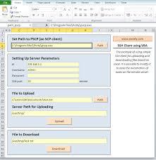 ssh client using vba excel vba templates