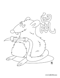 the year of the rat coloring pages hellokids com