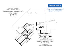 cottage design plans chestnut falls cottage house plans by garrell associates inc