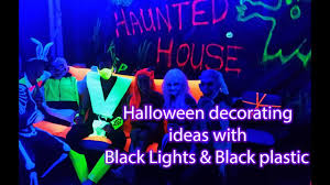 halloween decorating idea with uv black light youtube