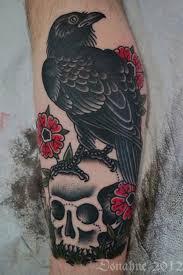 23 best black rose raven tattoo for men images on pinterest