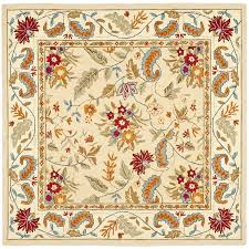 floor u0026 rug hand hooked ivory square area rugs for contemporary