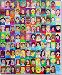 class self portrait collage art projects for kids
