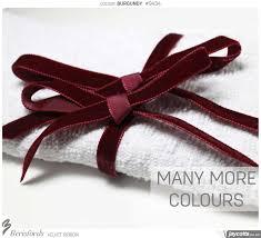 burgundy velvet ribbon berisfords velvet ribbon colours reds pinks purples jaycotts