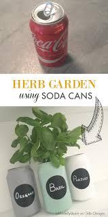 diy herb garden using soda cans u2022 grillo designs