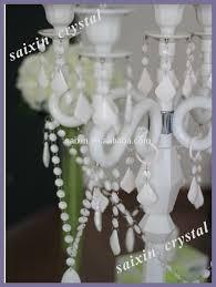 wedding centerpieces white crystal candelabra with hurricanes zt