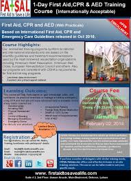 cpr aed u0026 first aid u2013 international certification course your