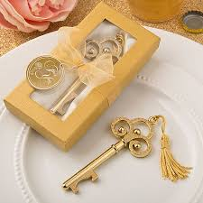 key bottle opener wedding favors gold vintage skeleton key bottle opener