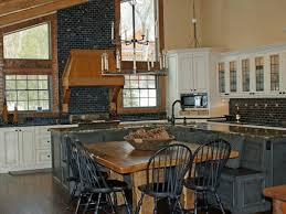 kitchen backsplashes rustic kitchen backsplash ideas with oak