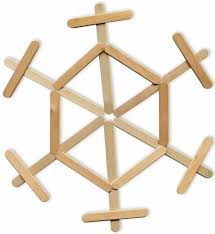 popsicle stick snowflake art projects for kids