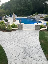 residential concrete outdoor living stamped patios concrete