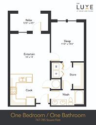 hendersonville 1 bedroom apartment floor plan the luxe the luxe