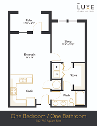 one bedroom house floor plans hendersonville 1 bedroom apartment floor plan the luxe the luxe