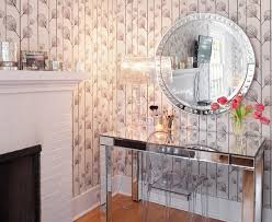 beautiful mirrored desk contemporary home office