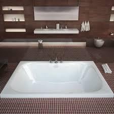 venzi flora 60 x 48 rectangular bathtub with center drain