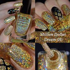 fun lacquer million dollar dream h swatches and nail art