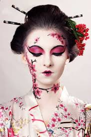 playing a geisha airbrush makeup inspired by a traditional