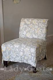slipcovering an armless accent chair tutorials upholstery and