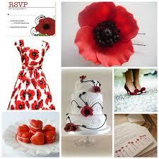 poppy appeal poppy wedding theme