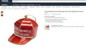 the donald trump christmas ornament for sale on amazon amzn