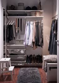 Small Bedroom With Walk In Closet Ideas Incredible Bedroom Male Decoration Integrates Clean White Ikea