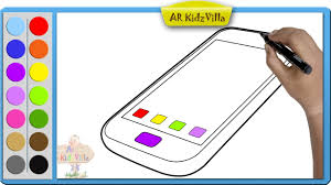 draw color paint touch mobile phone coloring pages learn