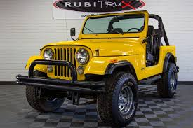 cj jeep wrangler 1982 jeep cj 7 yellow