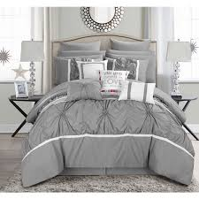 Comforter Bed In A Bag Sets Chic Home 16 Piece Legaspi Grey Bed In A Bag Comforter Set Free