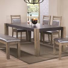 two tone finish dining table with butterfly leaf by coaster wolf